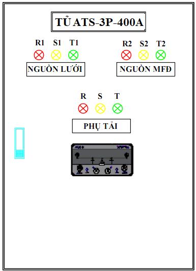 Tủ ATS-3P-400A OSUNG- KOREA