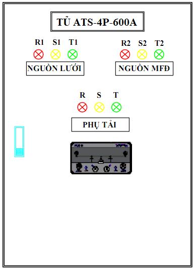 Tủ ATS-4P-600A OSUNG- KOREA