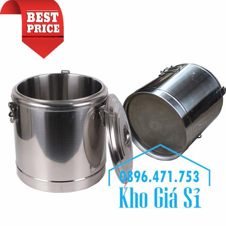 Thùng inox 2 lớp có form giữ nhiệt dung tích lớn 150 lít