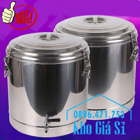 Bình inox ủ nhiệt 10 lít có vòi giữ lạnh trà sữa, nước trái cây