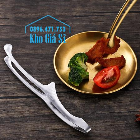 Kẹp gắp thức ăn buffet cho nhà hàng kiểu Nhật bằng inox 304