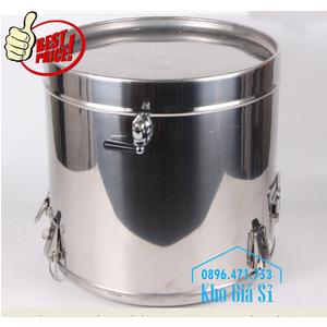 Thùng inox bảo ôn, giữ nhiệt 50L - 1 vòi đựng nước uống cho công nhân