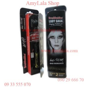 Bàn chải mạ vàng loa nhạc Lady GaGa BrushBuddies 2in1 - 0933555070 - 0902966670 :