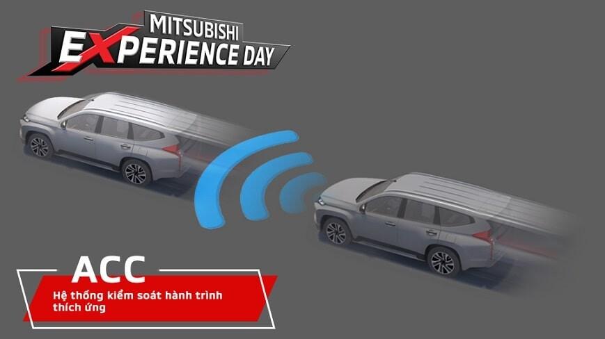 Bài kiểm tra hệ thống Adaptive Cruise Control tại Mitsubishi Experience Day