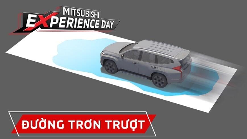 Bài test vận hành đương trơn trượt tại Mitsubishi Experience Day