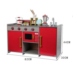 Bộ đồ chơi gỗ bàn bếp nấu ăn hiện đại phong cách châu Âu