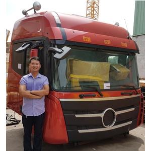 Bán cabin xe đầu kéo 2 cầu THACO AUMAN FV375, Cabin thay thế cho xe đầu kéo THACO AUMAN FV375