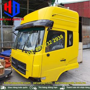 Bán cabin xe đầu kéo, xe thùng Dongfeng nóc cao, màu vàng, 2 giường nằm giá tốt