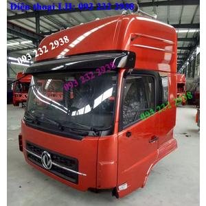 Bán cabin xe DONGFENG màu đỏ, cabin DONGFENG Viet Trung, Hoang Huy, Hoang Gia, Truong Giang, Ho Bac.