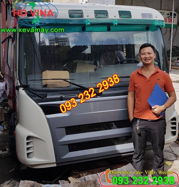 Bán cabin xe tải thùng 2 dí 1 cầu JAC model HB CA6DF2D-19/KM