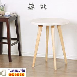 Bàn cafe bằng gỗ