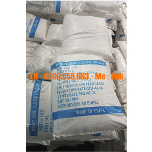 Calcium Chloride 94%.95%,96% – Cacl2 – Canxi Clorua, China, 25kg/bao