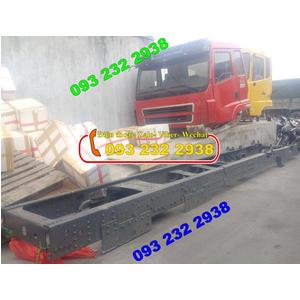 Bán chassis xe ben 3 chân Dongfeng (Ảnh thực tế), Howo Faw, Jac, Camc, Chassi mooc ben CIMC, YUNLY..