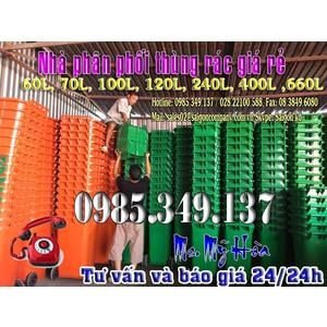 Bạn đã biết Thùng rác nhựa 120 lít nắp kín- giá chỉ 520.000 chưa?
