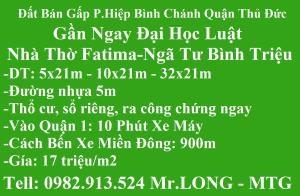 Bán Đất 1800m2 QL13 P.HBP Q.Thủ Đức Thổ Cư 100,Đg nhựa 6m Sổ Riêng