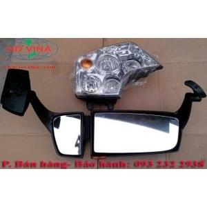 Bán đèn pha và gương chiếu hậu xe Howo A7 Tải thùng Đầu kéo Xe ben Trộn bê tông Giá tốt nhất Hà Nội