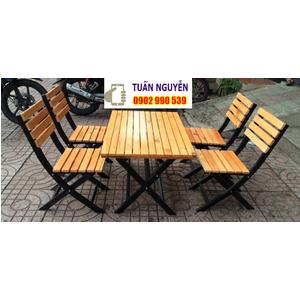 Bàn ghế gỗ xếp
