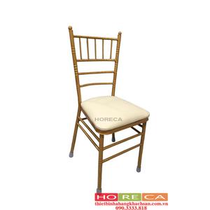 Bàn ghế nhà hàng tiệc cưới - ghế nhà hàng Tiffany trắng TFN-004