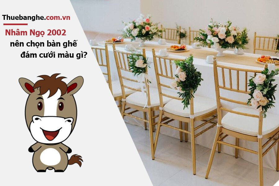 Tuổi Nhâm Ngọ 2002 nên thuê bàn ghế đám cưới màu gì: Nam mạng + Nữ mạng