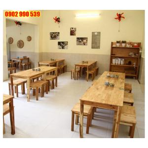 Bàn ghế quán ăn gỗ