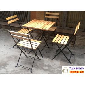 Bàn ghế quán ăn gỗ sồi