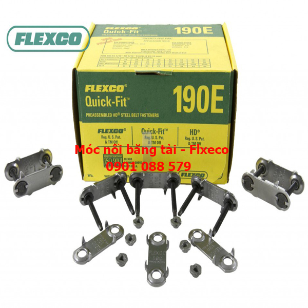 Bản lề nối băng tải từ 8mm đến 14mm 190E Flexco (Mỹ)