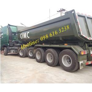 Bán mooc ben CIMC YUNLI Đầu kéo Mooc ben Trung Quốc tải trọng 34 tấn giá bán tốt nhất Hà Nội