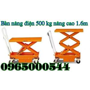 Bàn nâng điện 500 kg - nâng cao 1.6 m