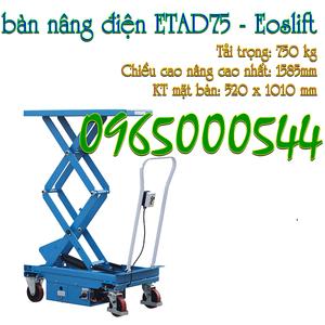 Bàn nâng điện 750 kg - 1440 mm Eoslift - Mỹ