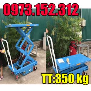 Bàn nâng điện có bánh xe 350 kg cao 1.6m đến từ Eoslift - Mỹ