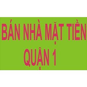 Bán Nhà 2 Mặt Tiền Trần Nhật Duật, F. Tân Định, Q1