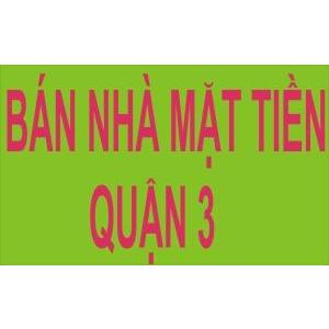 Bán Nhà Đẹp 2 Mặt Tiền Đường Nguyễn Thiện Thuật, Q3