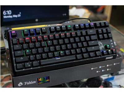 Bàn phím cơ Fuhlen M87S RGB (đen)+ tặng móc khóa cáp sạc