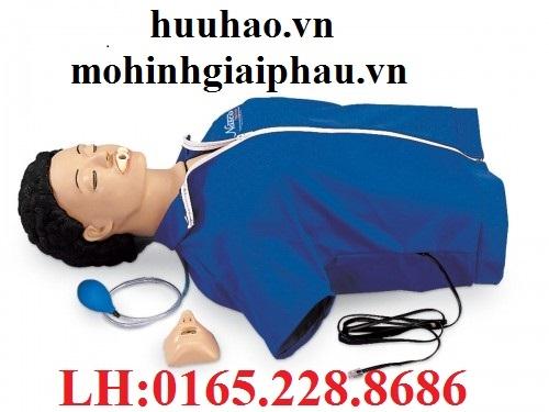 Mô hình hồi sức cấp cứu bán thân với đèn kiểm soát