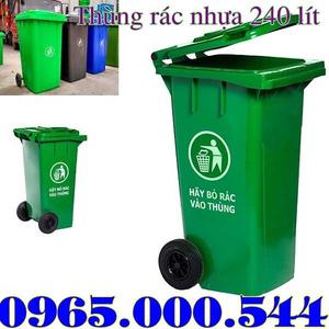 Thùng rác nhựa 240 lít HDPE giảm giá mạnh tại Hà Nội