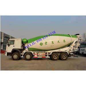 Bán xe trộn bê tông 4 chân HOWO 12 14 16 18 khối, động cơ 380 Ps giá tốt nhất tại Hà Nội