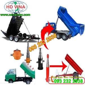 Bán xy lanh thủy lực, tháp ben, chế lắp trên xe tải nhỏ các loại