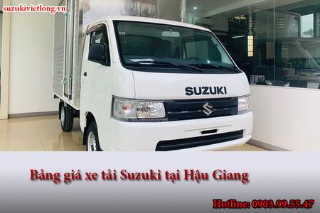 Bảng giá xe tải Suzuki tại Hậu Giang