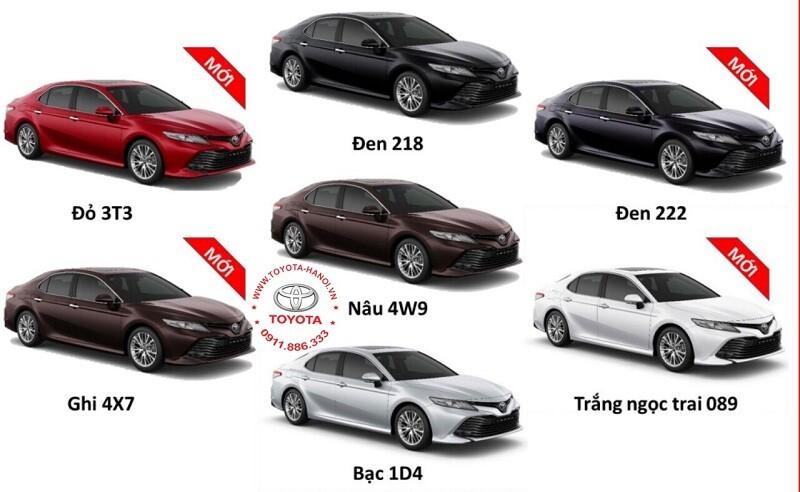 Bảng màu xe Toyota Camry 2022