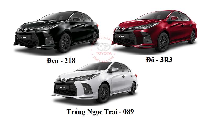 Bảng màu xe Toyota Vios GRS 2021