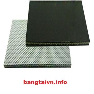 Băng tải PVC đen trơn mờ dày 3mm-2 lớp bố