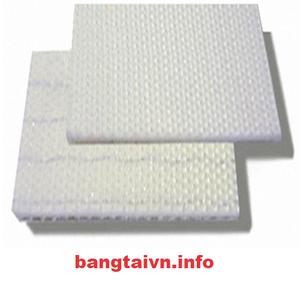 Băng tải PVC trắng 2 mặt nhám dày 1.8mm-2 lớp bố