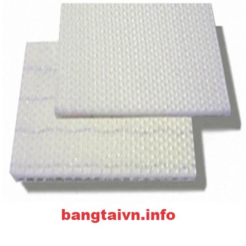 Băng tải PVC trắng 2 mặt nhám dày 2mm-2 lớp bố
