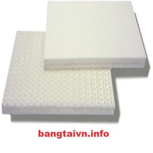 Băng tải PVC trắng trơn dày 3mm - 2 lớp bố