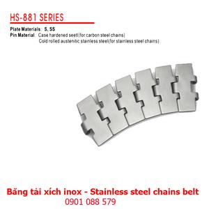 Băng tải xích Inox dòng 881 (Stainless steel chains belt)