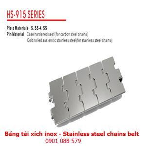 Băng tải xích Inox dòng 915 (Stainless steel chains belt)