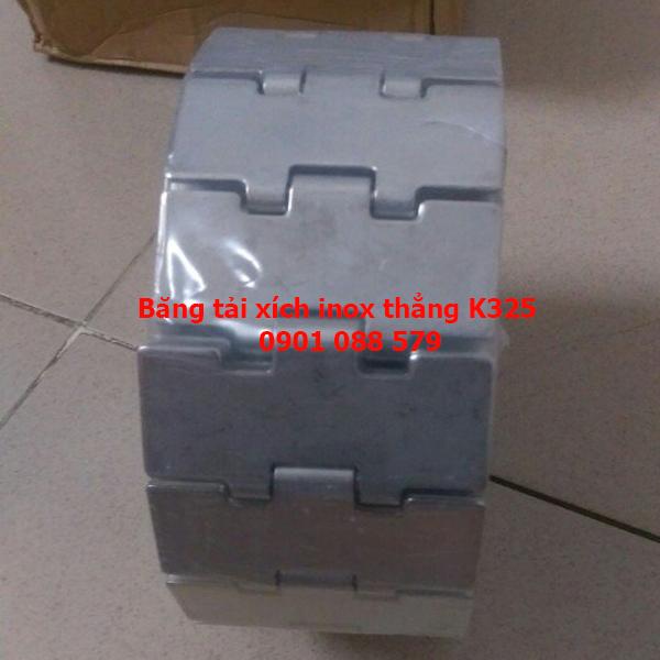 Băng tải xích Inox K325 chạy thẳng (Stainless steel chains belt)