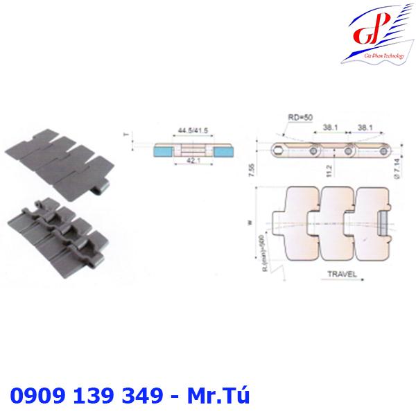 Băng tải xích nhựa dòng 820 và dòng 880