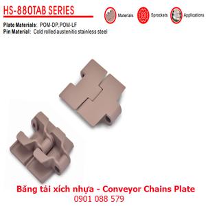 Băng tải xích nhựa dòng 880TAB (Conveyor Chains Plate)