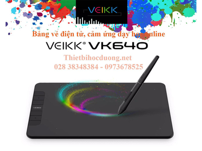 Bảng vẽ dạy học online VEIKK VK640, thiết kế đồ họa, làm việc trực tuyến, bút vẽ chuyên dụng